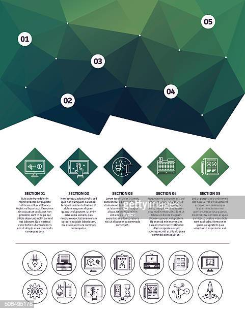 Abstrakter Hintergrund Infografik-Elemente