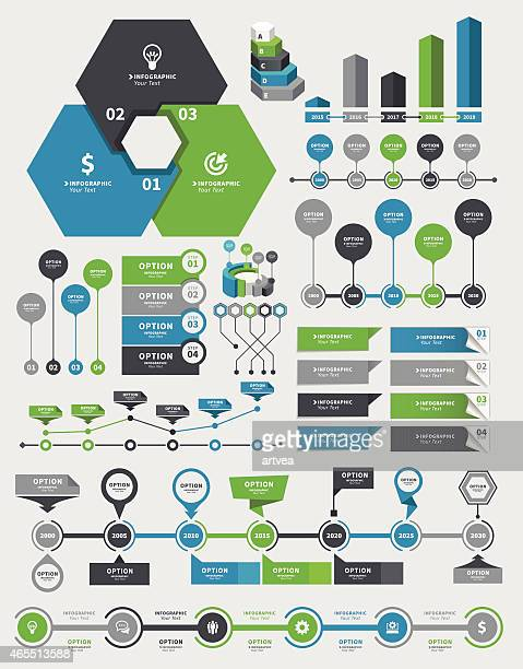 Infografik-Elemente und Timeline Set