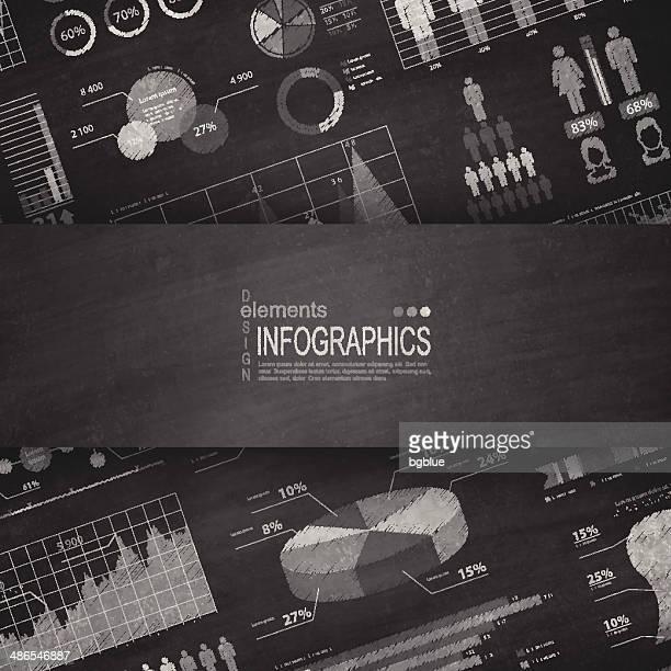 Infographic elements Blackboard - Chalkboard