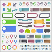 Collection of infographic elements, vectpr EPS10 illustration