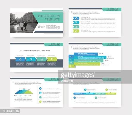 Infografía elementos para presentación de plantillas. : Arte vectorial