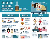 alcohol infographic elements..health care concept..illustration isolated on white background
