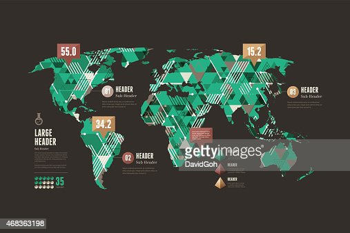 Infographic Elements World Map Vector Art | Getty Images