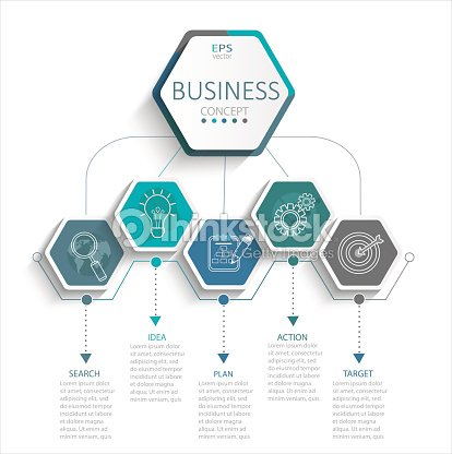 Infographic for business. : stock vector