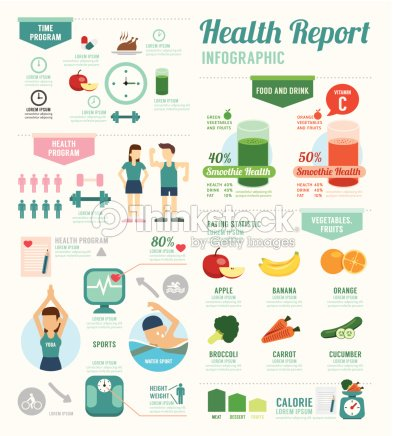Infographic health sport and Wellness template design . concept