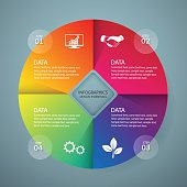 Infographic design template and marketing icons, Business concept with 4 options