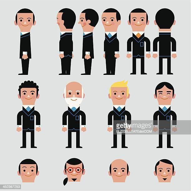 Infografik Männer Heads