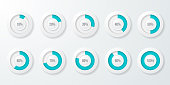 Infographic pie chart templates. Can be used for chart, graph, data visualization, web design. Vector illustration.