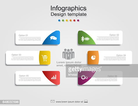 Infographic report template with place for data. Vector illustration. : stock vector