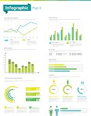 Information Graphics and charts, vector illustration. Bar Graph, Line Graph, Chart, Data, Web Page