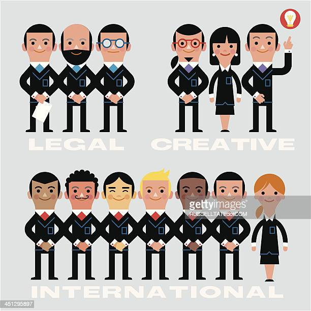 Infografik team-Legal, kreative, International