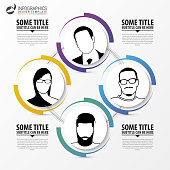 Infographic template. Abstract 4 Circle. Vector illustration