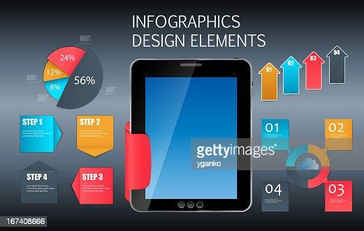 Infographic template business vector illustration : Vectorkunst