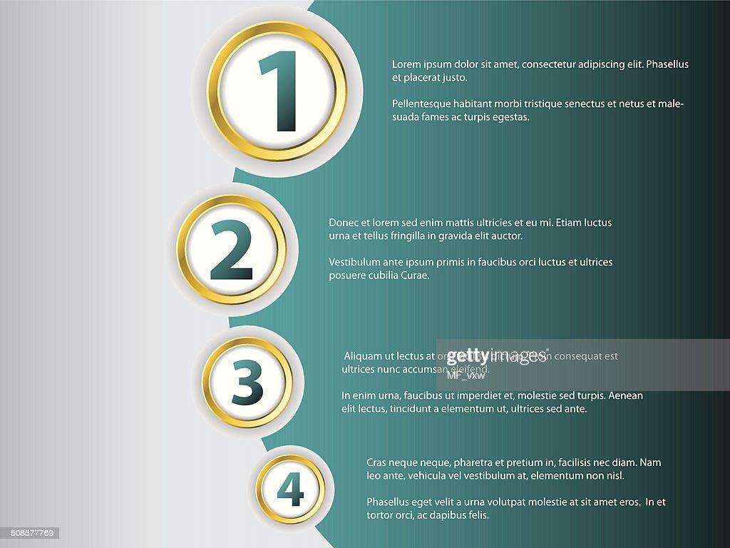 Infographic template : Vektorgrafik