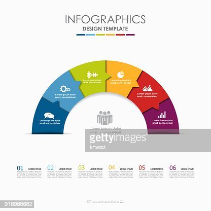 Infographic template. Vector illustration. Used for workflow layout, diagram, business step options, banner, web design. : stock vector