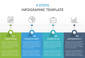Infographic template with 4 steps, workflow, process chart, vector eps10 illustration