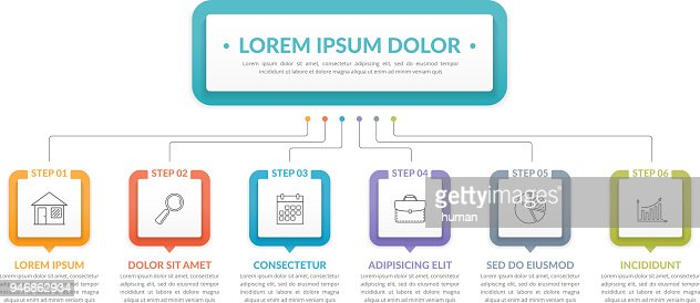 Infographic Template with 6 Steps : stock vector