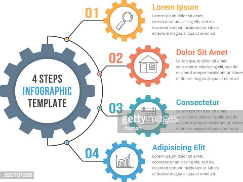 Infographic Template with Gear : stock vector