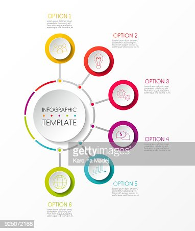 Infographic template with options and colorful icons. Vector. : stock vector