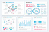 Infographic elements - circle infographics, progress bars, timeline and pie charts, bar graph, people infographics, vector eps10 illustration