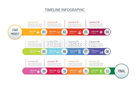 Infographic timeline 1 year template business concept arrowsvector infographic timeline 1 year template business concept arrowsctor can be used for workflow layout cheaphphosting Images