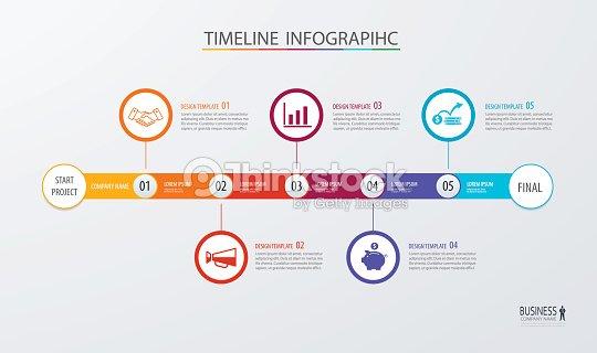 インフォ グラフィック タイムライン テンプレート ビジネス コンセプト