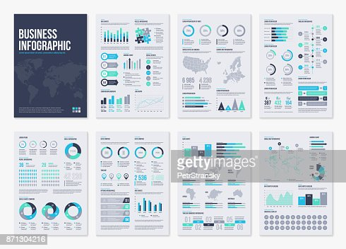 Infographic vector brochure elements for business illustration in modern style. : Arte vetorial