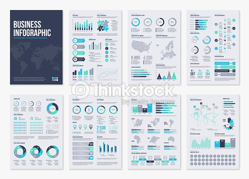 Infographic vector brochure elements for business illustration in modern style. : stock vector