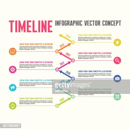 vector concept in flat design style timeline template vector art