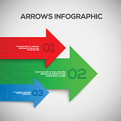 3D Infographic with arrows. Vector illustration
