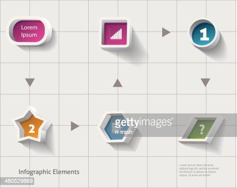 Infografiche design. : Arte vettoriale