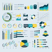 Infographics Elements Collection - business vector illustration for presentation, booklet, website, blog, workflow layout, brochure, banner, card, step up options, web design, poster, flyer, timeline.