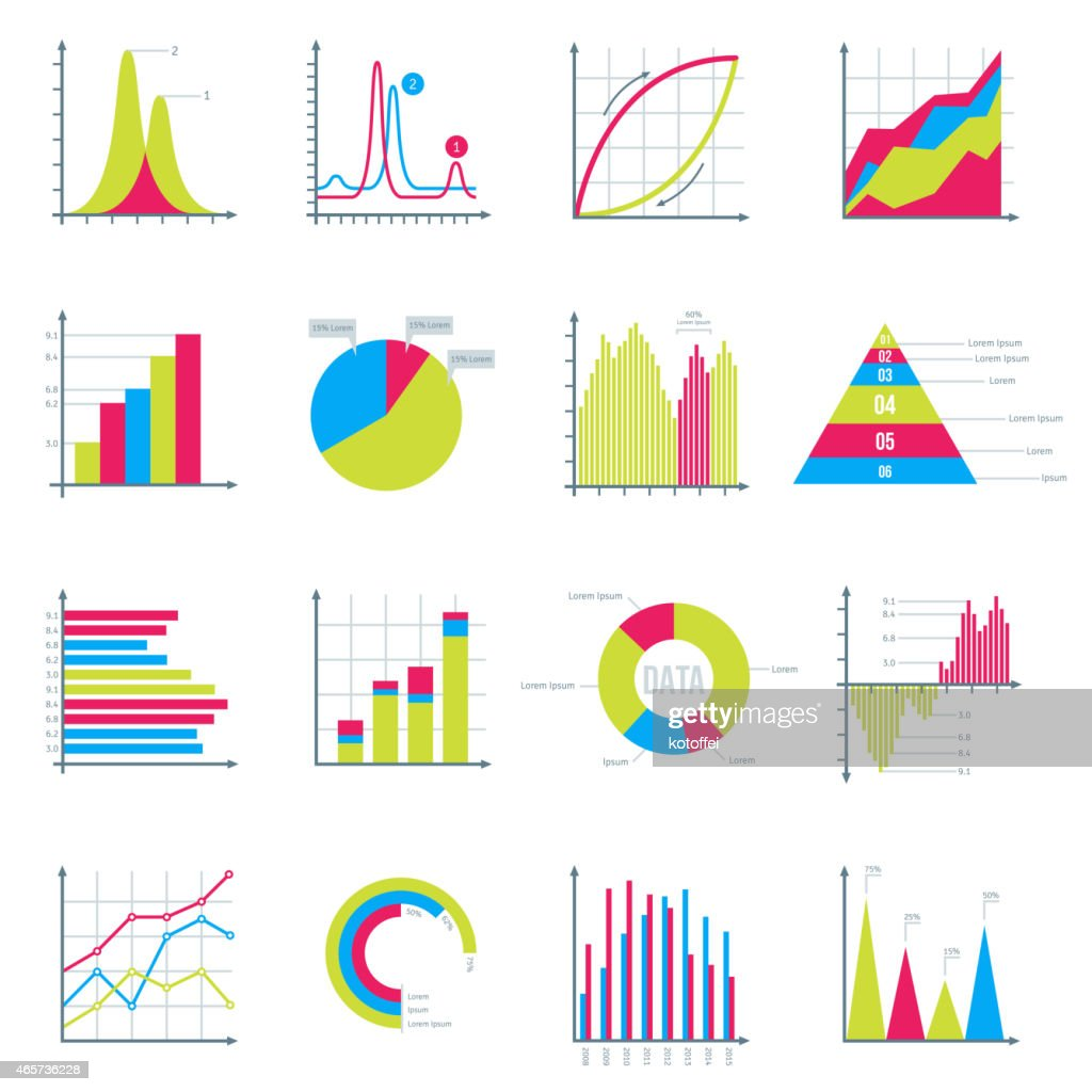 Infographics Elements in Modern Flat Business Style.