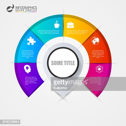 Infographics step by step with pointer. Business concept : stock vector