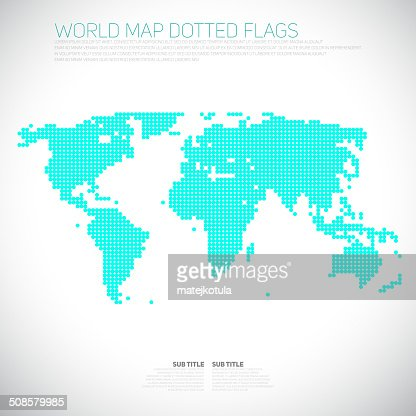 Infographics World map from dots, communication concept : Vector Art