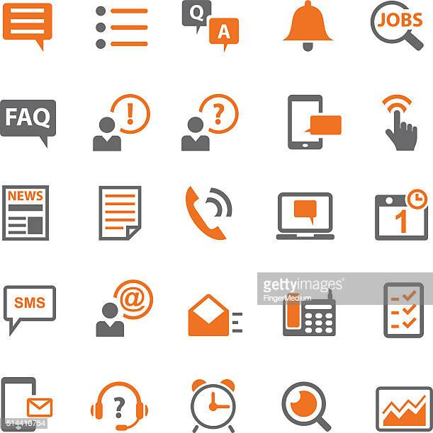 Information and notification icon set