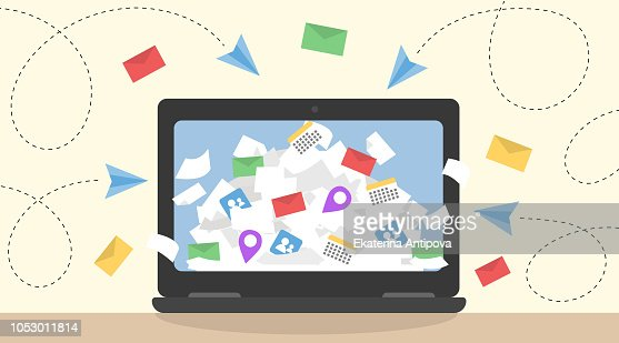Information overload vector concept. : stock vector