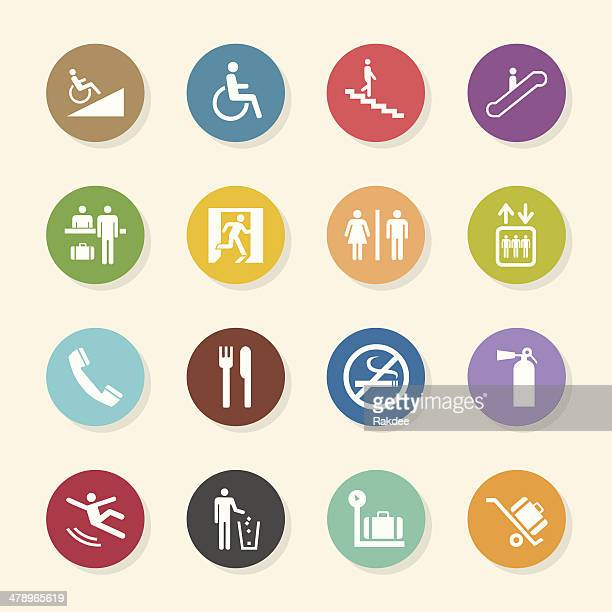 Information Sign Icons - Color Circle Series