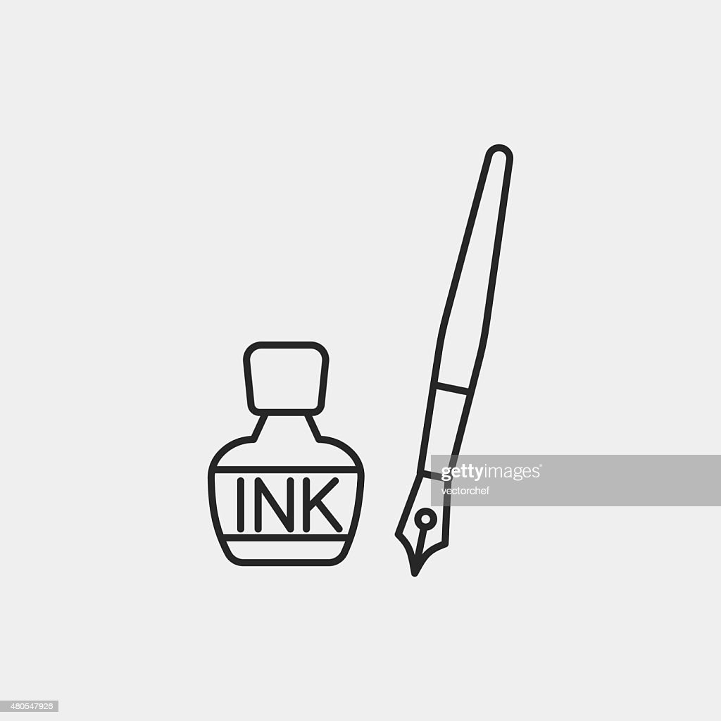ink line icon : Vector Art
