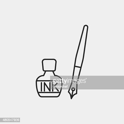 Inchiostro icona linea : Arte vettoriale