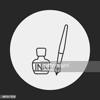 ink line icon : Vector Art