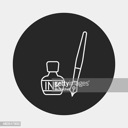 Icono de tinta : Arte vectorial