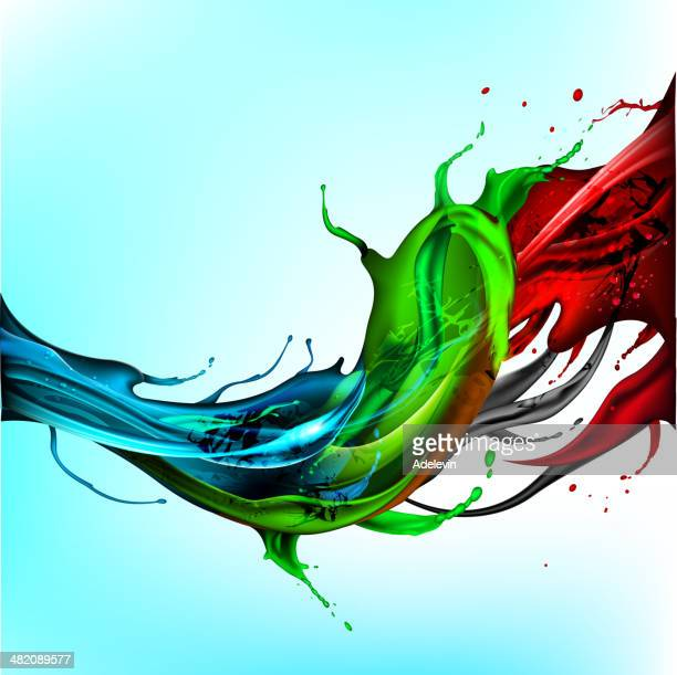 Ink splash wave background
