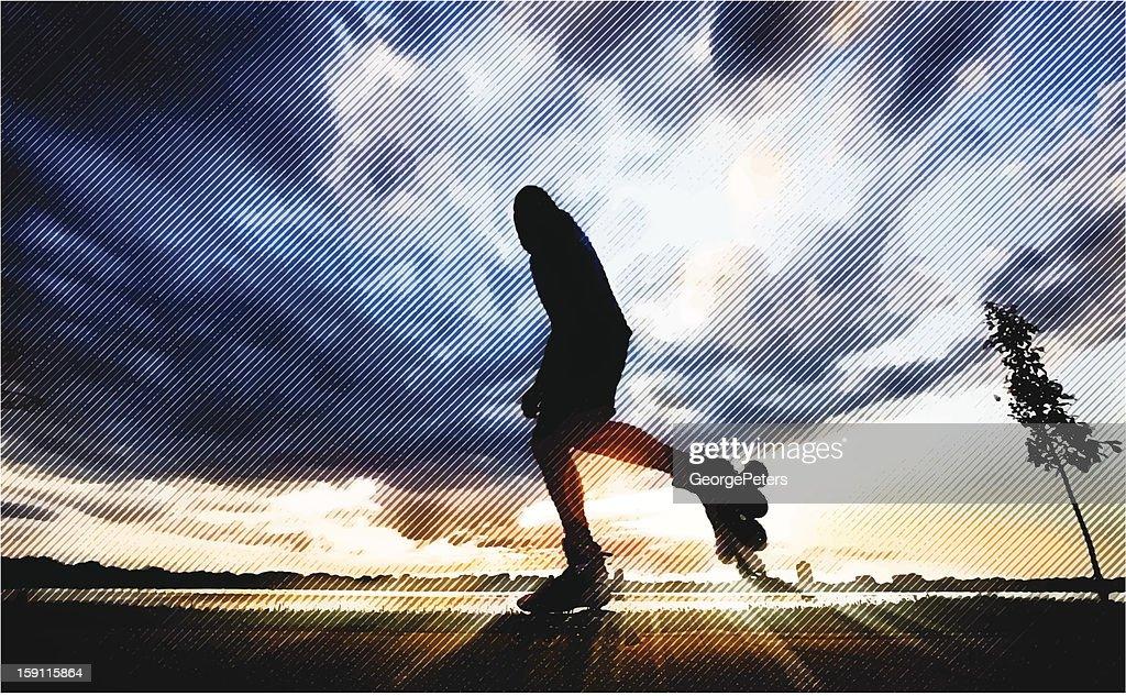 Inline Skating : Vektorgrafik