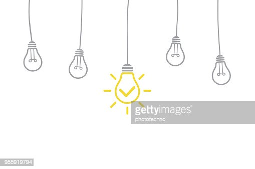 Innovation Concept with Light Bulb : Vector Art