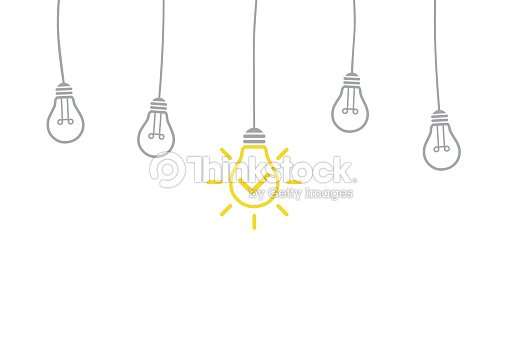 Innovation Concept with Light Bulb : stock vector