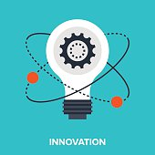 Abstract vector illustration of innovation flat design concept.