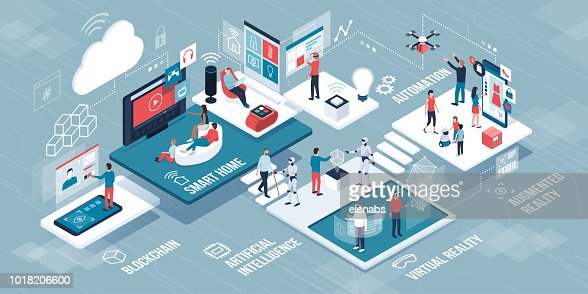 Innovative technology and lifestyle infographic : stock vector