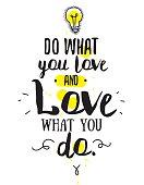 Vector design of inspirational quote. Black and white colors. Romantic wisdom.