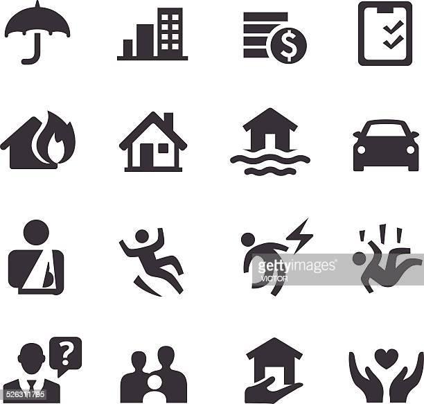 Iconos de seguros de Acme serie